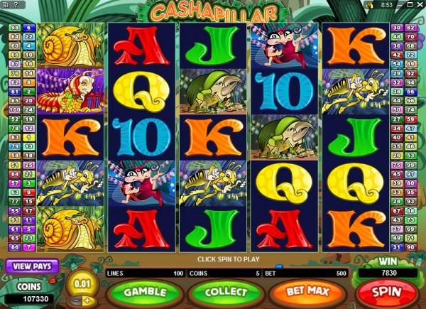 Cashapillar Slots Game
